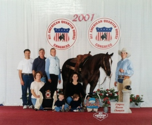 Jesse Westfall was Congress Reserve Champion the same day his youngest son was born.