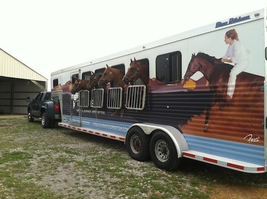 Stacy Westfall Horse Trailer with horses #Tekonsha