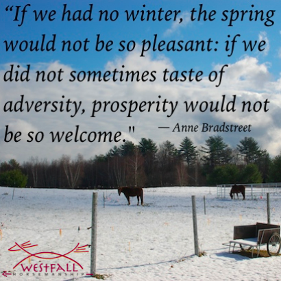 If we had no winter, the spring would not be so pleasant: if we did not sometimes taste of adversity, prosperity would not be so welcome.