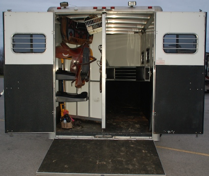 new (used) horse trailer