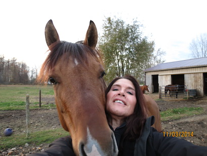 Selfie...horsie...photo
