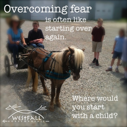 Overcoming fear is often like starting over again. Where would you start with a child and a horse?
