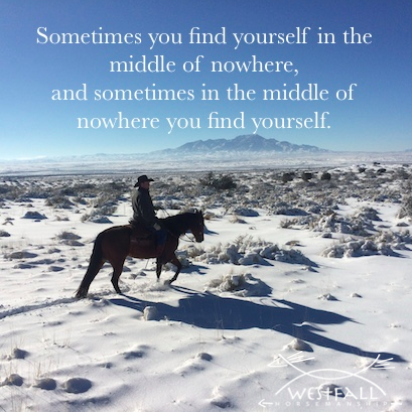 Sometimes you find yourself in the middle of nowhere and sometimes in the middle of nowhere you find yourself.