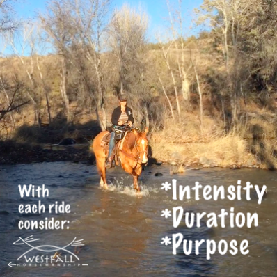 With each ride consider intensity, duration, purpose